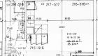 Asuntojen 4, 10, 16, 22 ja 28 pohjapiirros. Osa asunnoista on peilikuvia.