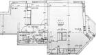 Asuntojen 5, 9, 13, 17 ja 21 pohjapiirros. Osa asunnoista on peilikuvia.