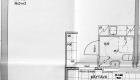 Asuntojen 10, 21 ja 32 pohjapiirros. Osa asunnoista on peilikuvia.