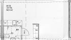 Asuntojen 11, 22 ja 33 pohjapiirros. Osa asunnoista on peilikuvia.