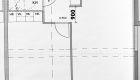 Asuntojen 8, 19 ja 30 pohjapiirros. Osa asunnoista on peilikuvia.